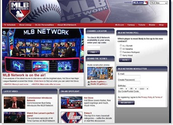 MLB Network Launches January 1, 2009
