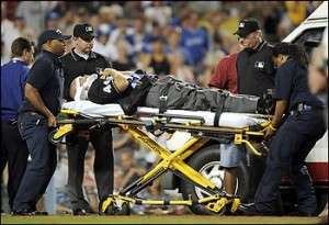 Umpire Injured Baseball